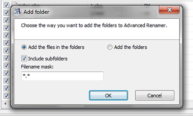 Choice of how folder should be added to the list